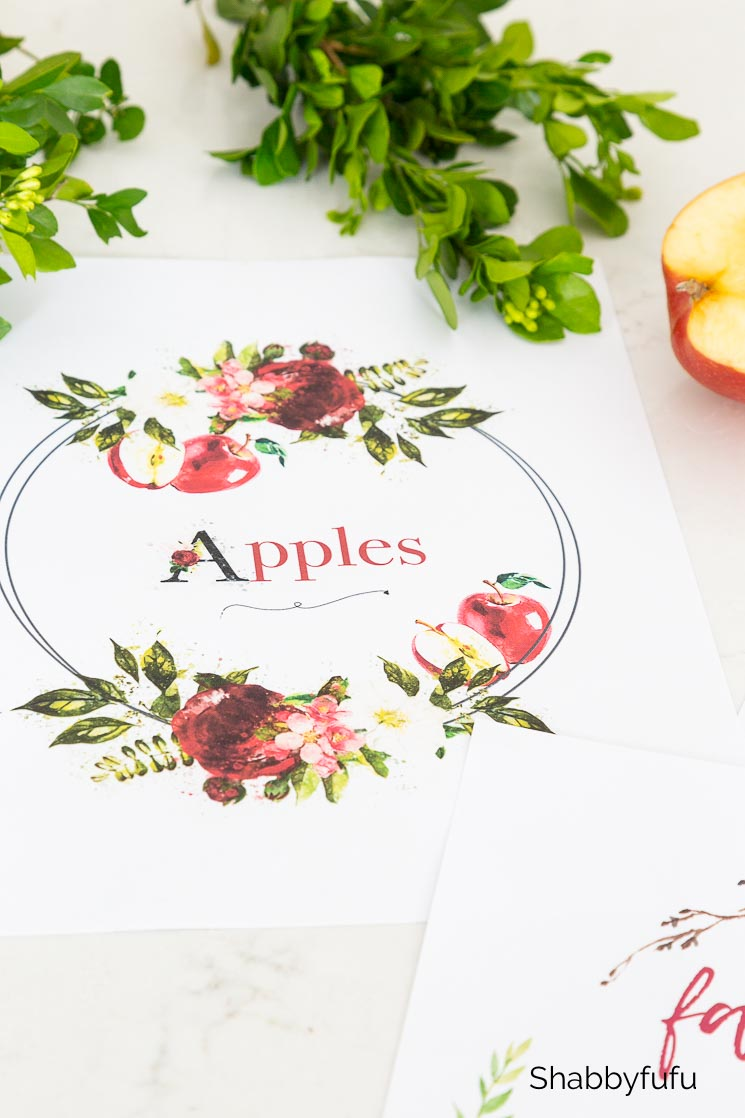 apples free fall printable
