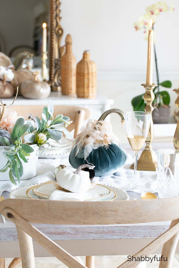 french style fall table setting