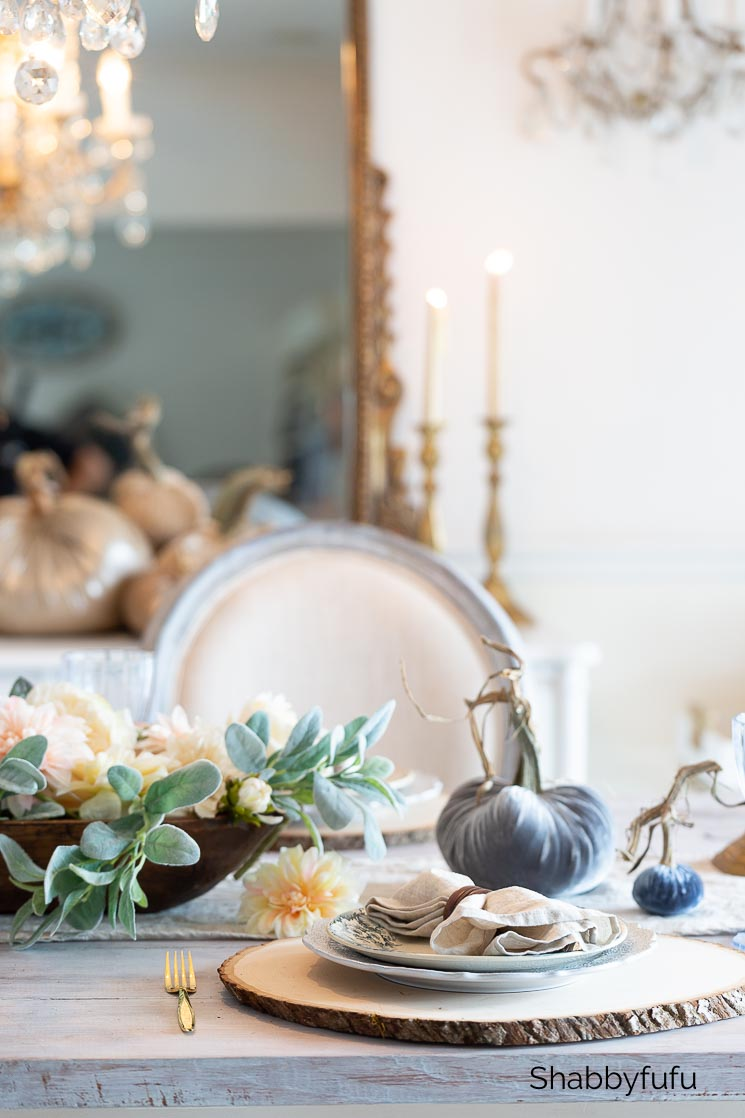 rustic French farmhouse table autumn tablescape