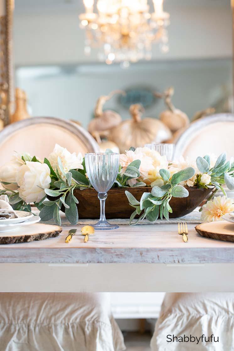dough bowl fall table setting