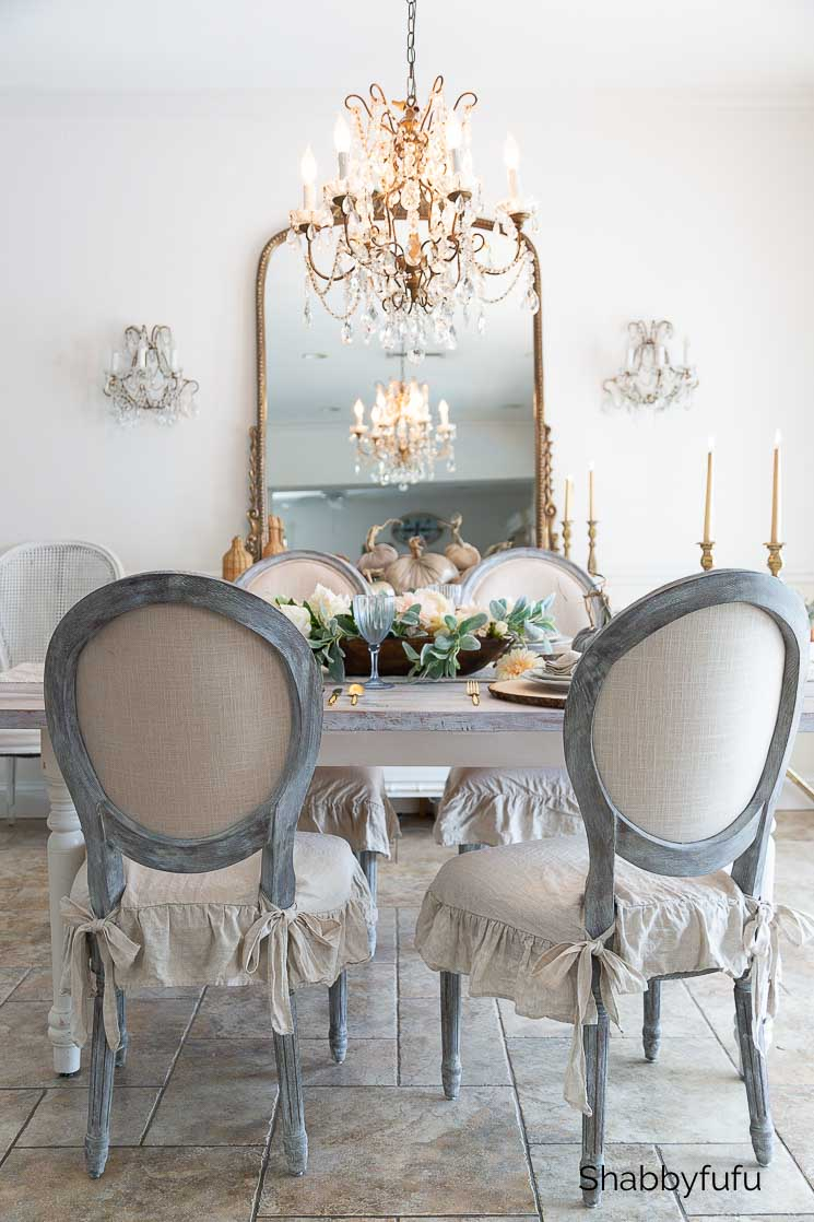 rustic French farmhouse dining room fall