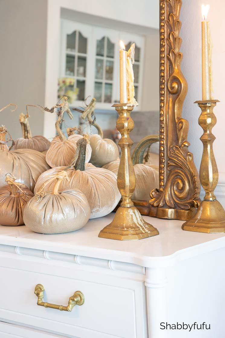 vintage fall buffet setting