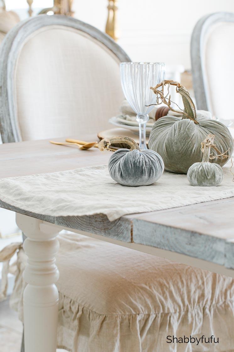 silver sage velvet pumpkins
