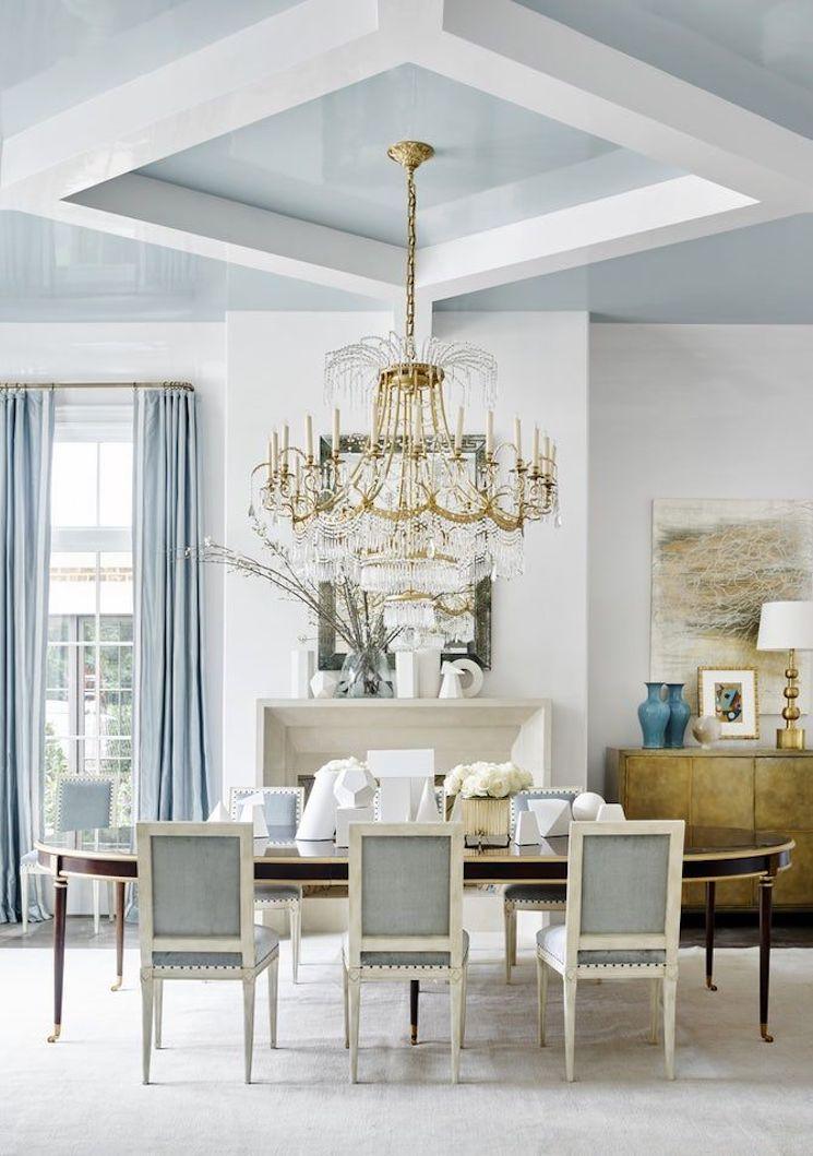 powder blue dining room