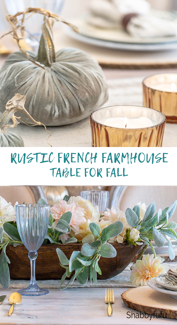 rustic french table setting for fall shabbyfufu