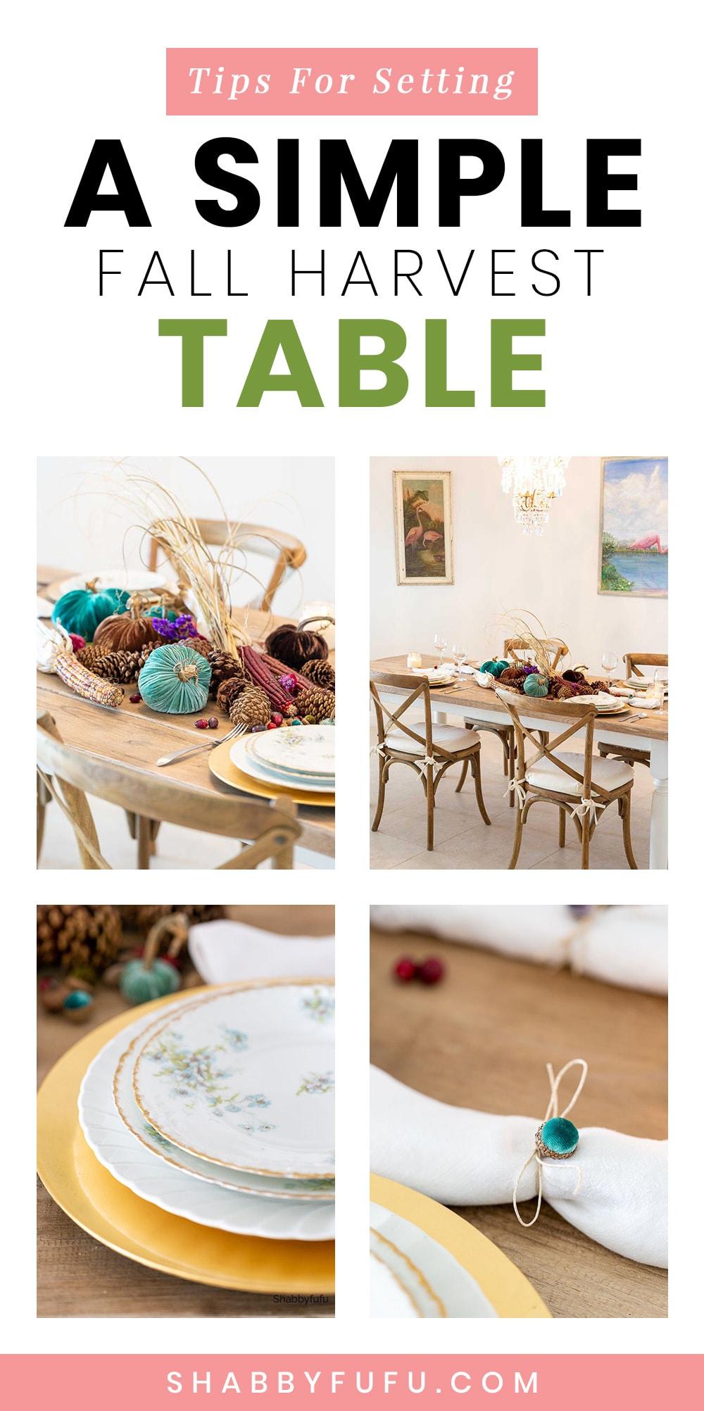 organic autumn table centerpiece