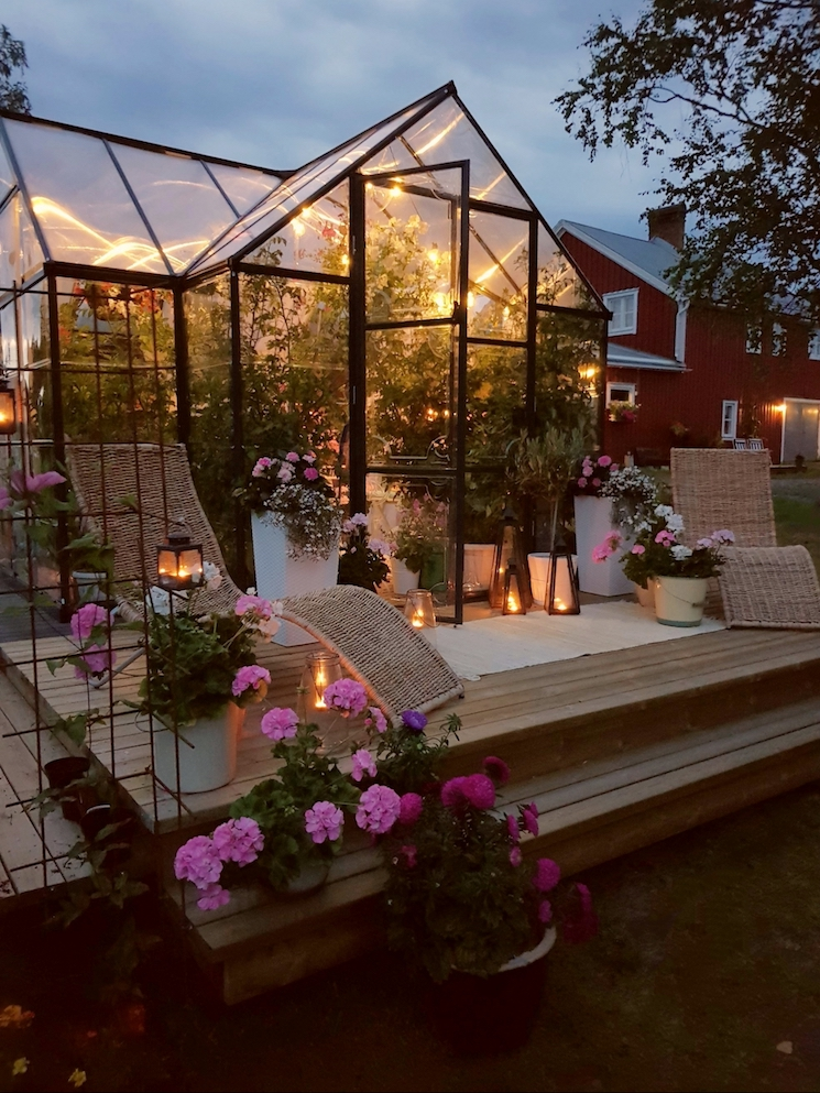greenhouse in a Swedish home decor