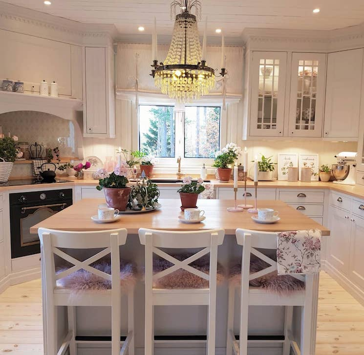Swedish home decor kitchen
