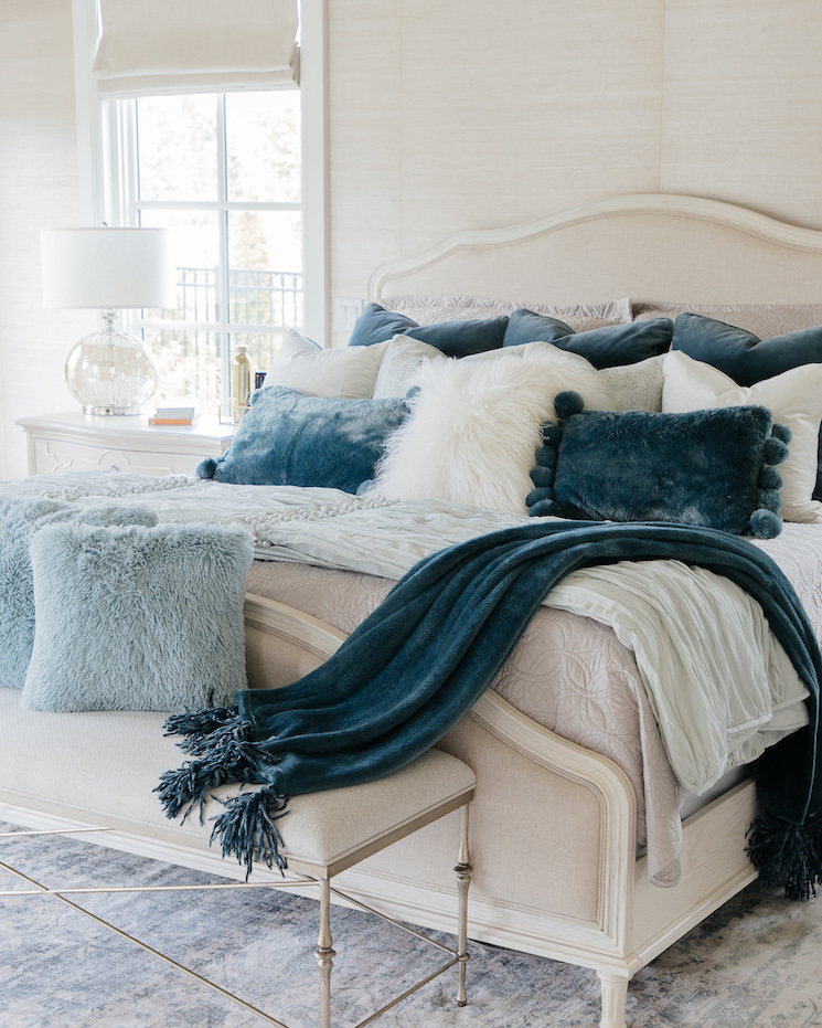 beautiful blue french country bedroom