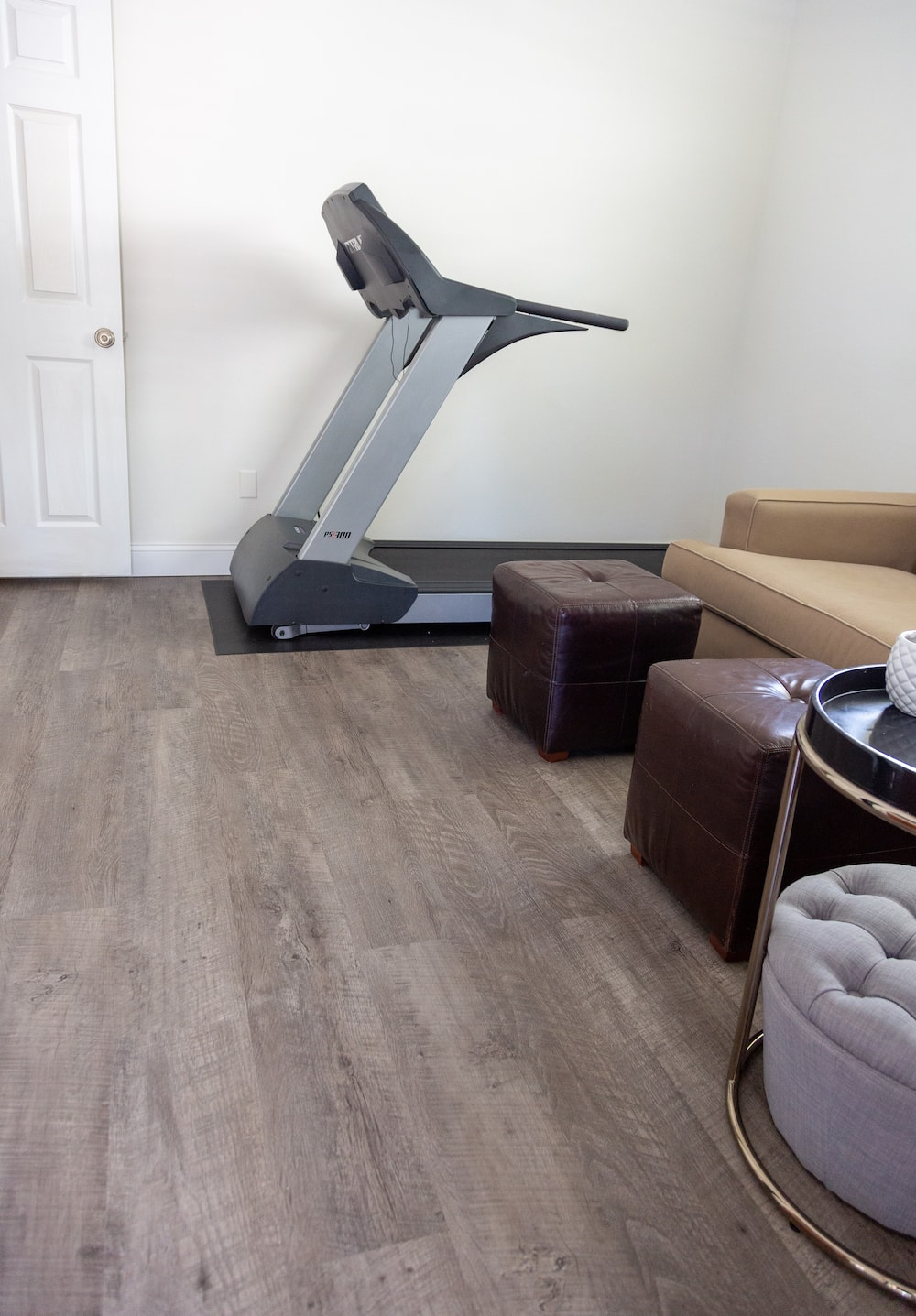 home gym LifeProof flooring room reveals