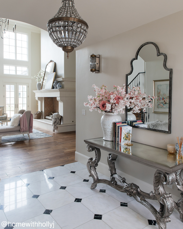 marble foyer french country style