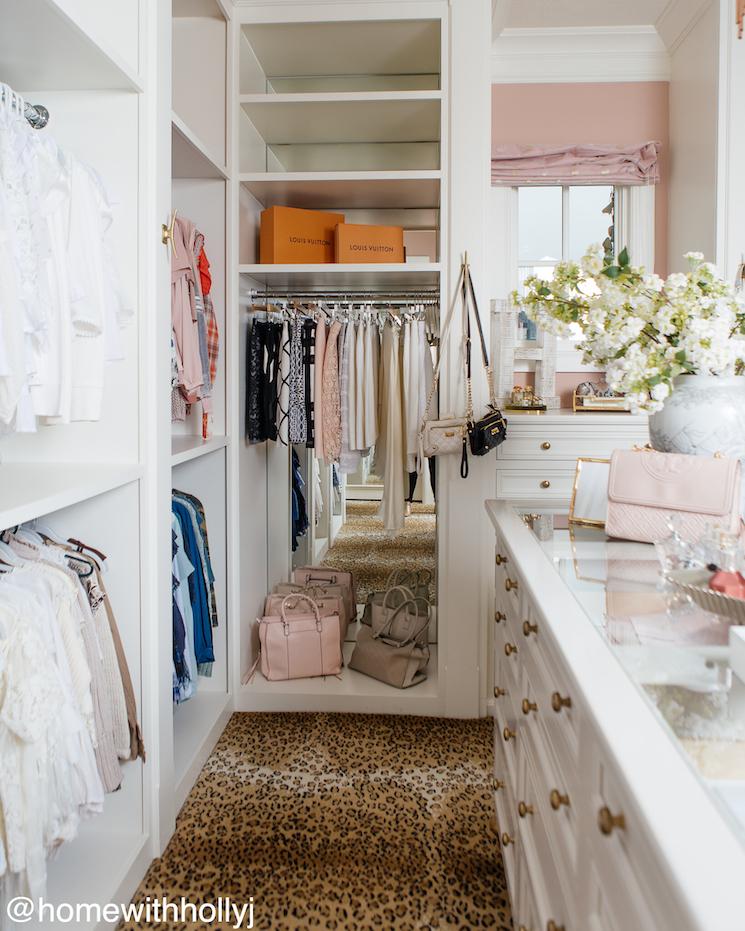 beautiful feminine walk in closet