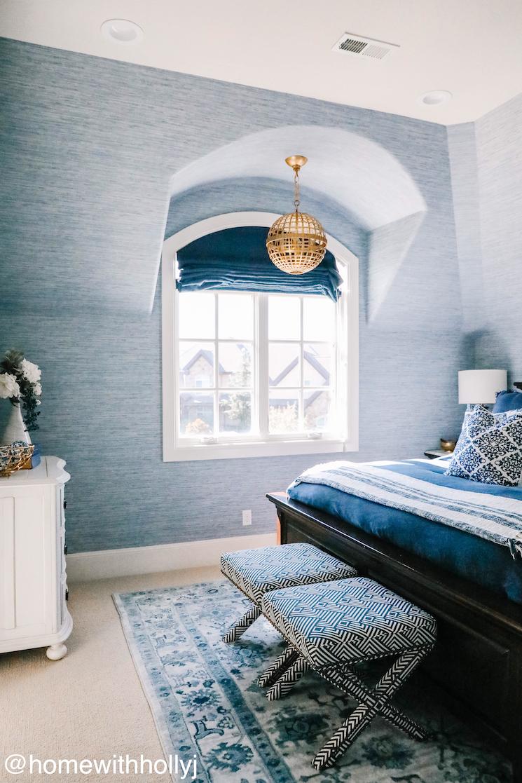 blue guest bedroom
