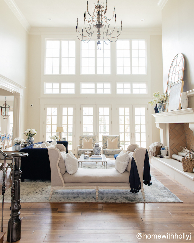 oversized windows french country home
