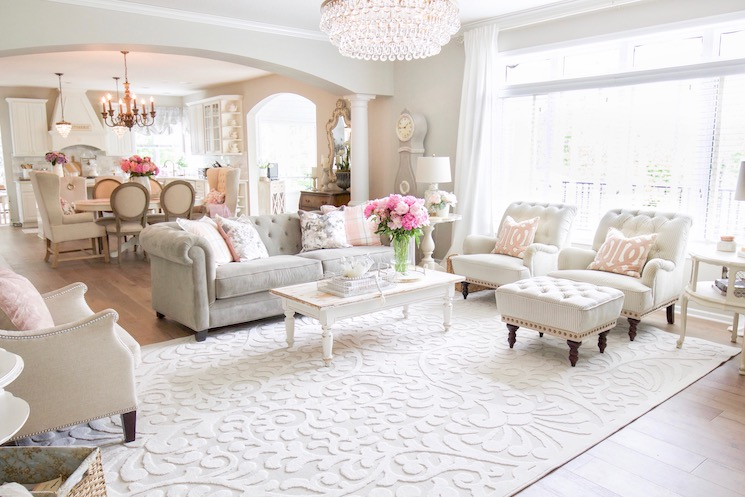 vintage glam living room