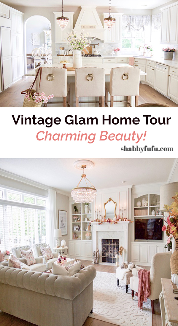 Vintage Glam Home Tour Styled With Lace at Shabbyfufu