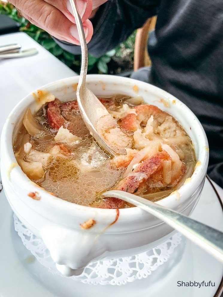 french onion soup bowl