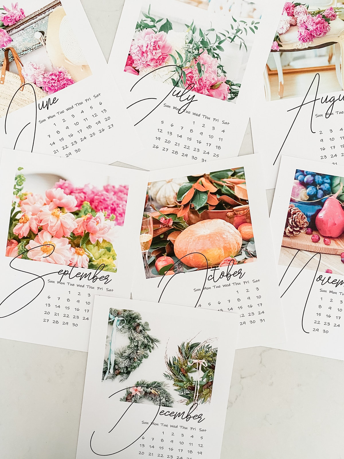 free floral printable calendar for 2020