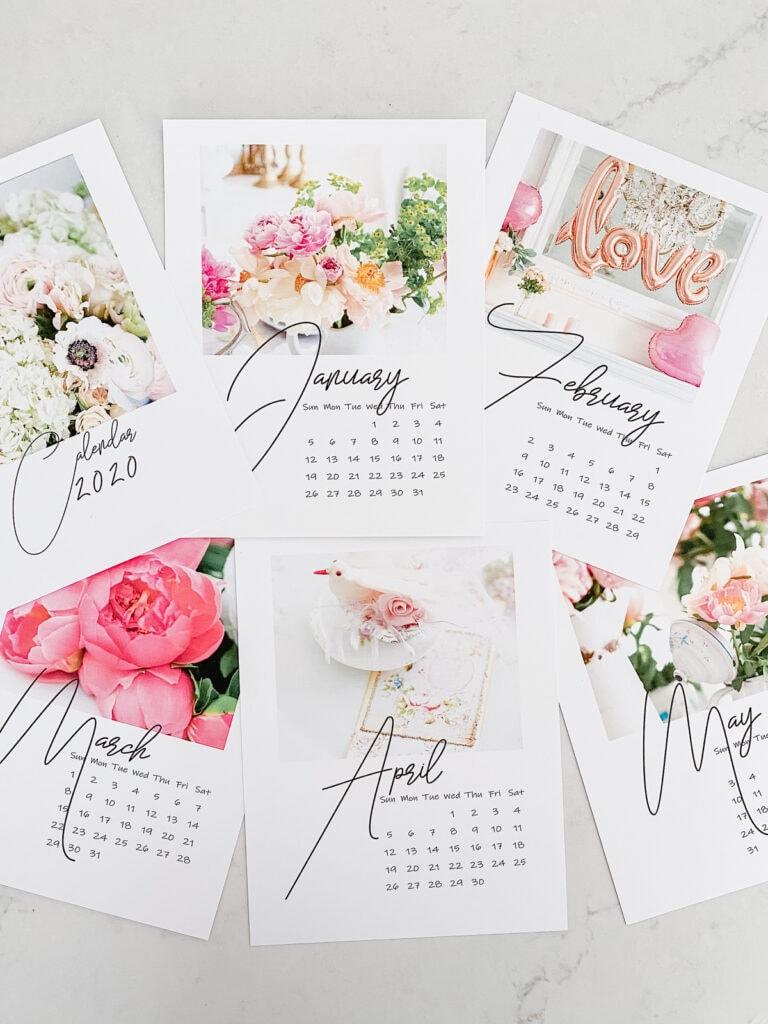 shabbyfufu printable calendar 2020
