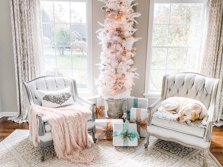 french farmhouse shabby chic christmas