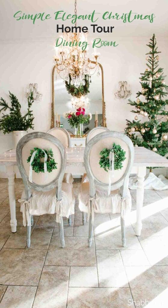 Simple elegant Christmas home tour kitchen