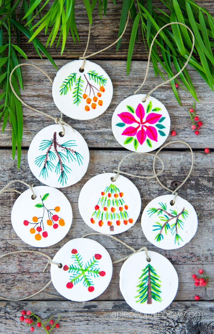 homemade salt dough Christmas ornaments