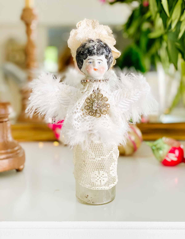 angels for Christmas bottle doll Shabbyfufu