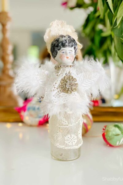 angels for christmas bottle doll diy tutorial