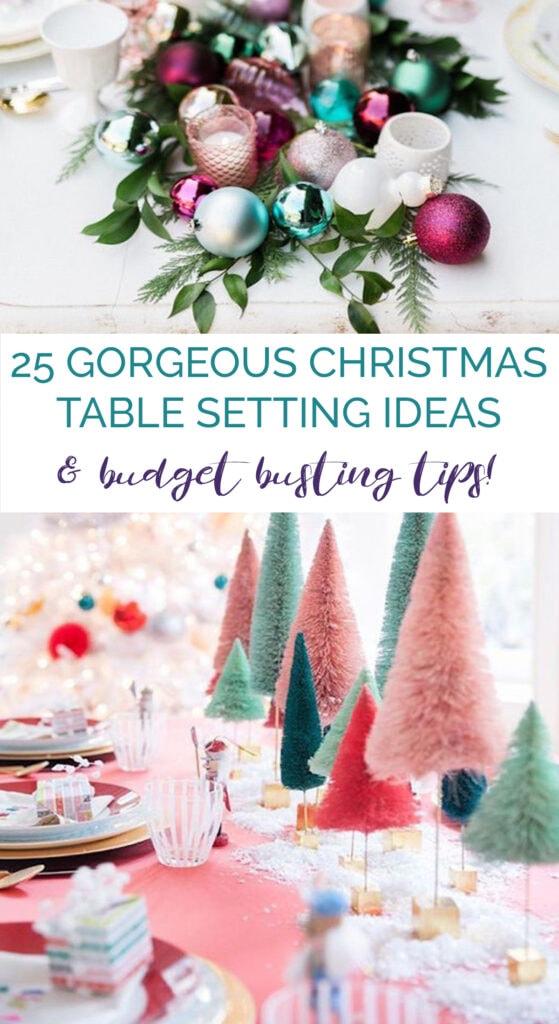 Christmas Table Setting – 25 Gorgeous Ideas