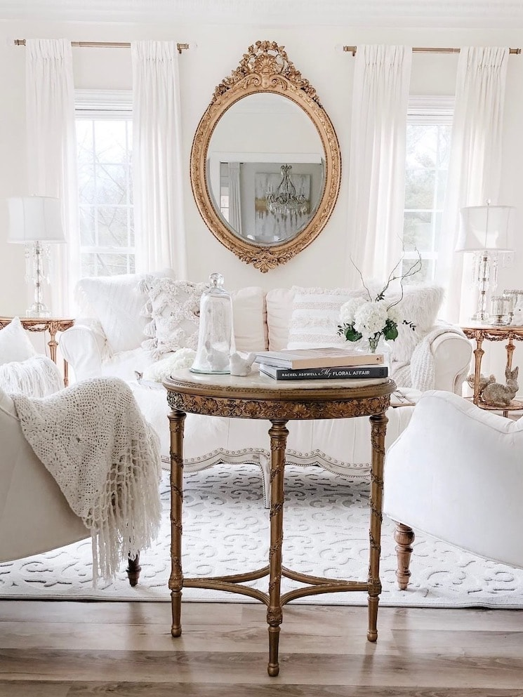 elegant French flair home tour antique furniture