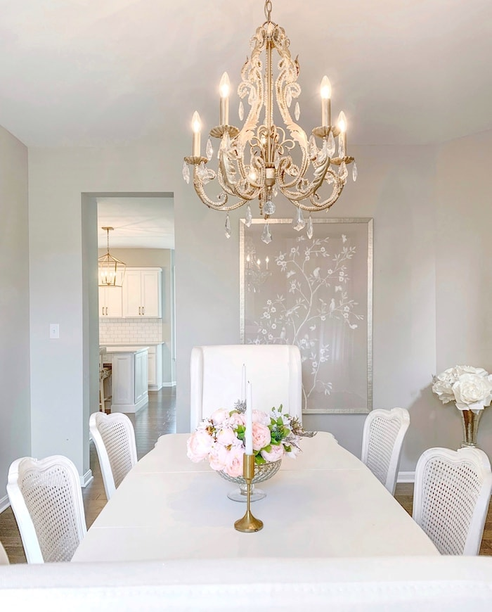 classic white home tour dining room
