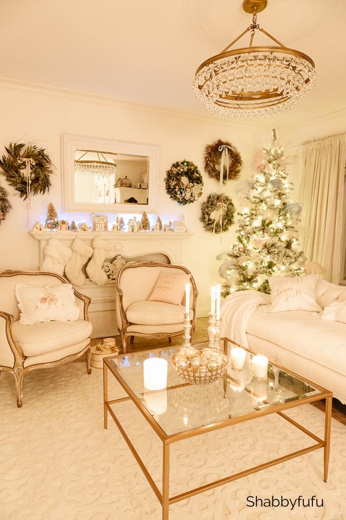 Christmas twinkle lights shabbyfufu
