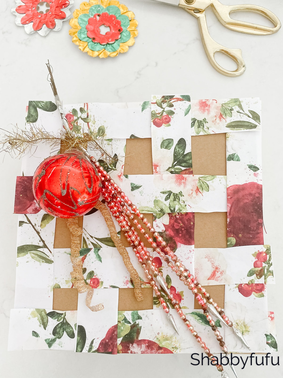 FREE SHIP Vintage Christmas Wrapping Paper /& Made in Germany Gift Bag