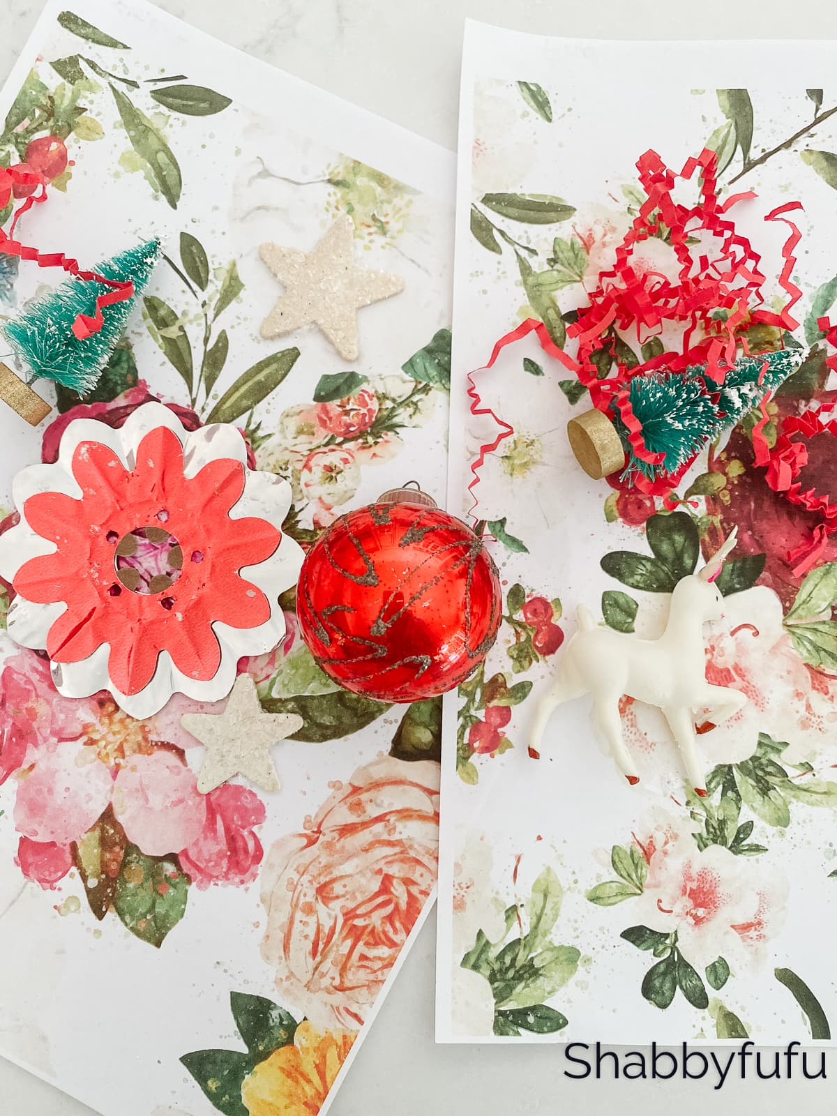 Vintage Christmas Wrapping Paper Made Easy - shabbyfufu.com