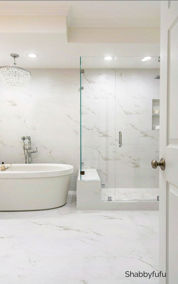 favorite remodeling projects - shabbyfufu master bathroom