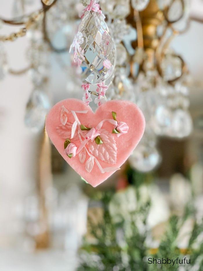 heart on a chandelier