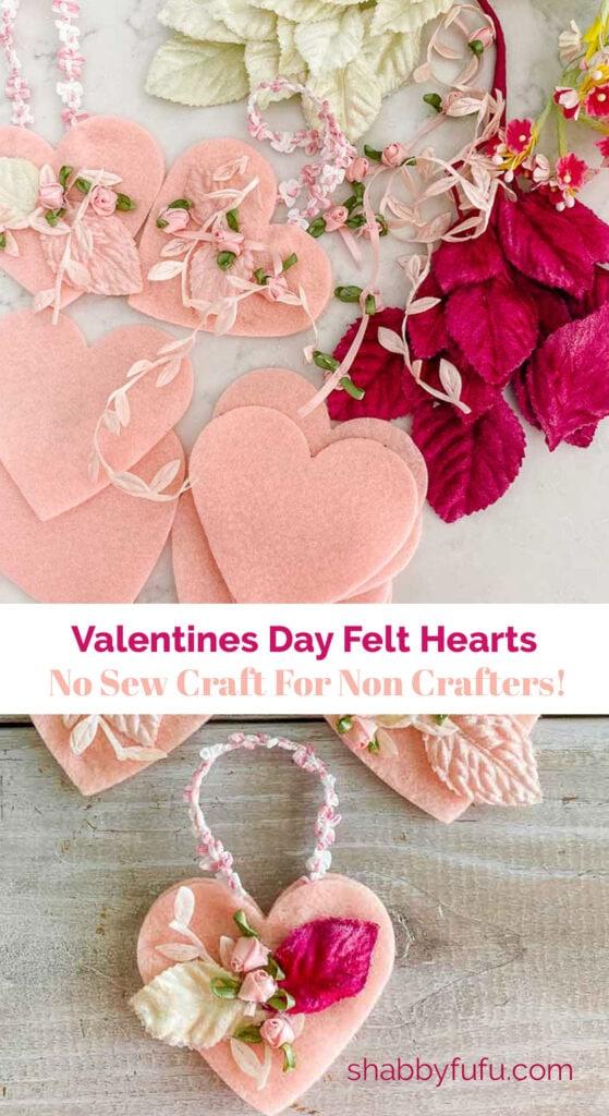 Valentines Day Hearts - No Sew Craft