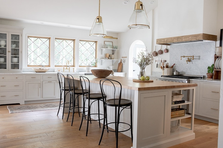 Modern European Style Farmhouse Kitchen