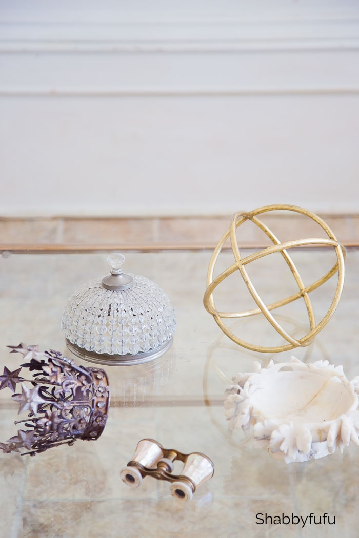 vintage items for quick coffee table styling