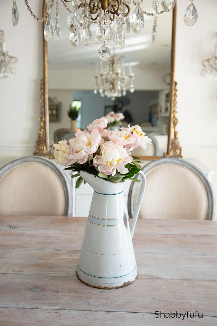 winter peonies - winter decorating ideas after Christmas