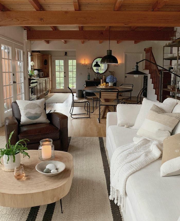 organic natural modern living room design