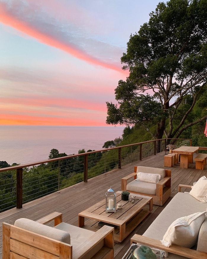 modern Big Sur California deck