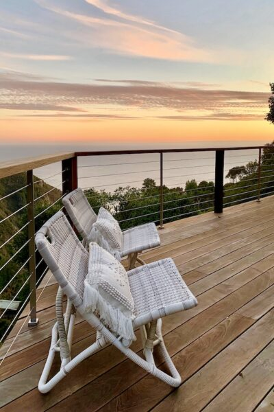 Big Sur California home deck and view