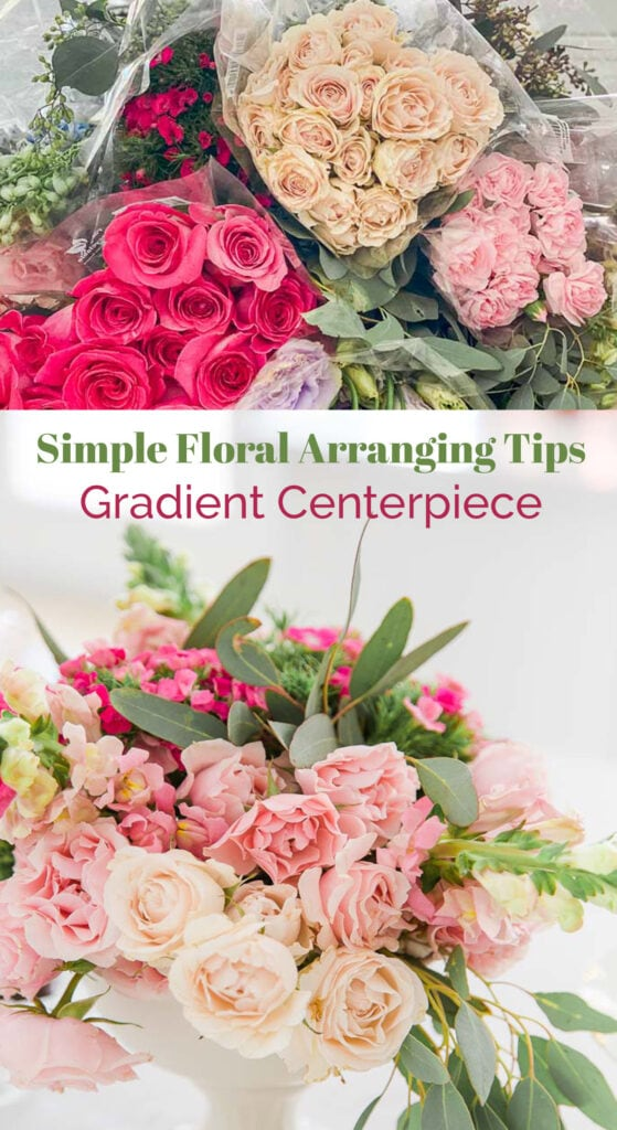 Simple Floral Arranging Tips - Gradient Centerpiece