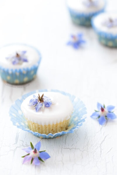 dried edible flowers fairy cake