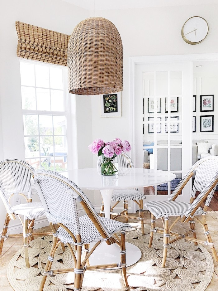 modern coastal inspired home serena and lily riviera chairs