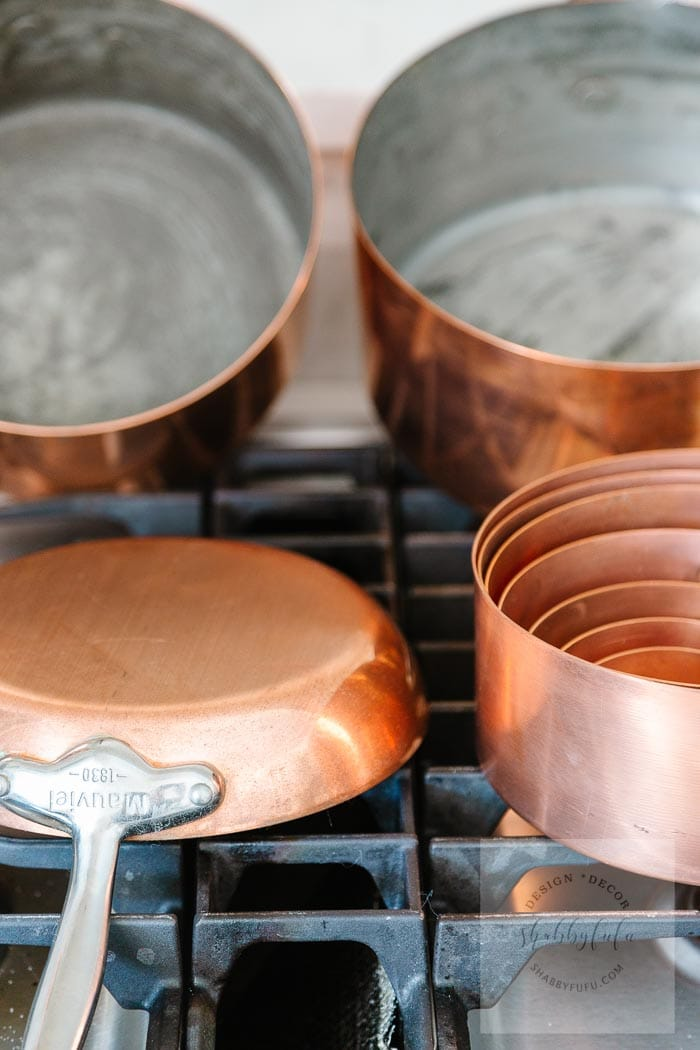 Mauviel copper set of pots and pans shabbyfufu.com
