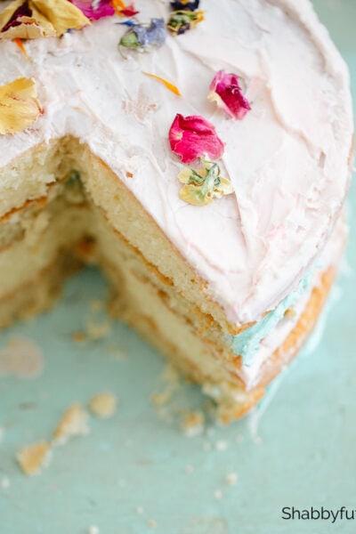 shabbyfufu dried edible flower cake