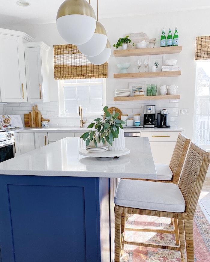 blue kitchen design ideas coastal inspired home