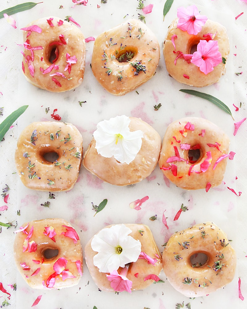 naked flower donuts